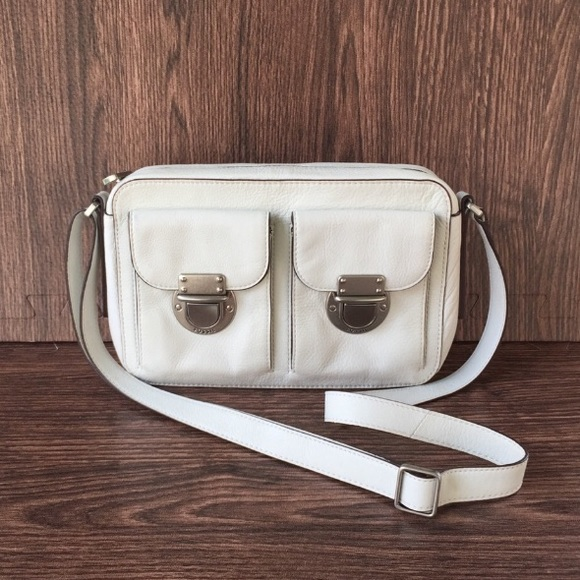 Fossil Handbags - Fossil Riley Top Zip Leather Crossbody Bag